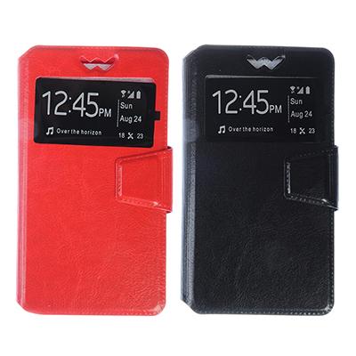 328-265 Чехол-книжка для телефона универсальный, ПВХ, силикон, 14,5х8х1,2см, 2-4 цвета