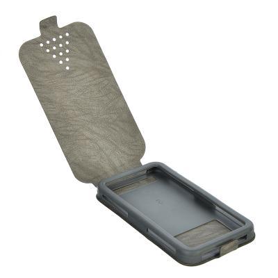 328-267 Чехол-раскладушка для телефона универсальный, ПВХ, силикон, 12,8х7х1,5см, 2-4 цвета