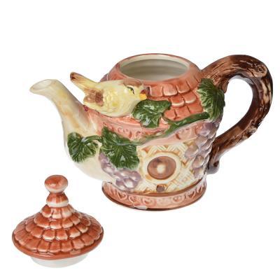 """824-878 Домики Чайник заварочный, керамика, 600мл, """"Виноградная лоза"""""""