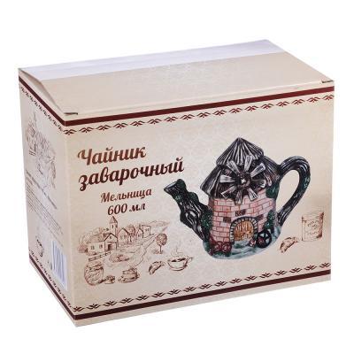 """824-880 Домики Чайник заварочный, керамика, 600мл, """"Мельница"""""""