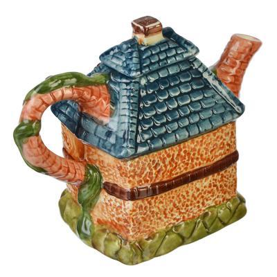"""824-882 Домики Чайник заварочный, керамика, 600мл, """"Сказочная страна"""""""