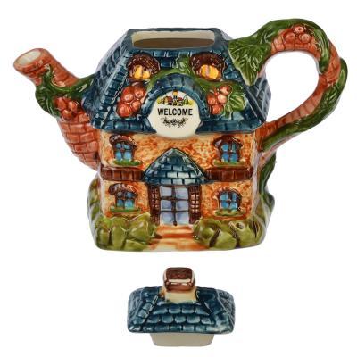 """824-883 Домики Чайник заварочный, керамика, 300мл, """"Сказочная страна"""""""