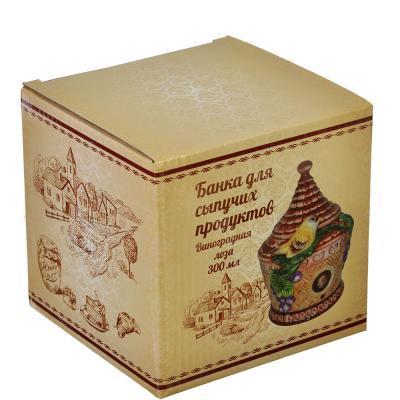 """824-887 Домики Банка для сыпучих продуктов, керамика, 300мл, """"Виноградная лоза"""""""