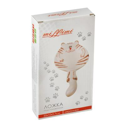 824-896 MILLIMI Веселый кот Ложка подстановочная, 20x10x2,7см, керамика