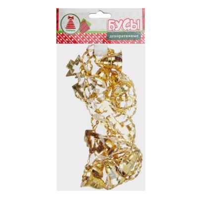 378-220 Бусы на елку СНОУ БУМ пластик, 200 см, колокольчики и елочки, 6 цветов