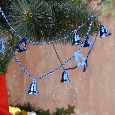 378-220 СНОУ БУМ Бусы декоративные, пластик, 200см, колокольчики и елочки, 6 цветов