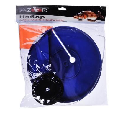 126-013 AZOR FISHING Набор для зимней рыбалки жерлица Угол 45, пластик, катушка, флажок