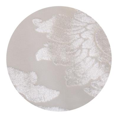 "499-025 Тюль для окон бархат, ПЭ, 140х260см, белый, ""Модена"""