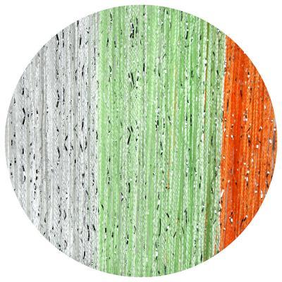 497-007 Занавеска нитяная межкомнатная с блестками, полиэстер, 1х2м, 5 цветов