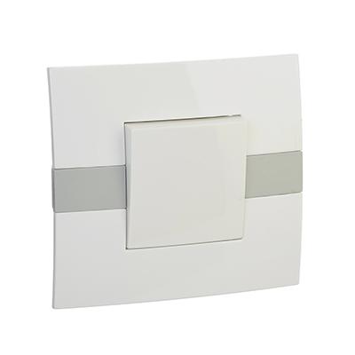 904-130 FORZA МОДЕРН Выключатель одноклавишный, цвет белый 10А 250В, пластик ABS