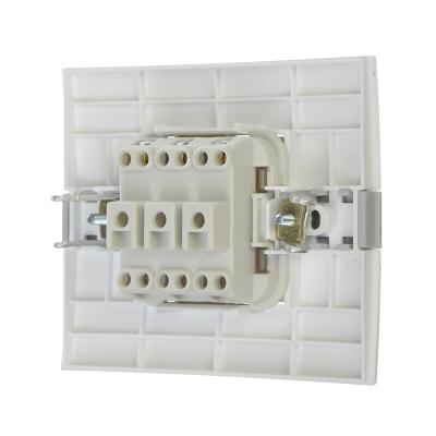 904-132 FORZA МОДЕРН Выключатель двухклавишный, цвет белый 10А 250В, пластик ABS