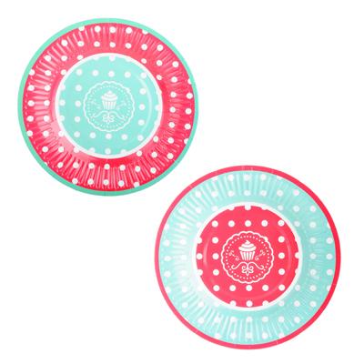530-103 Набор тарелок 10шт, бумажные с ламинацией, d17,5см, №2 Дизайн ГЦ