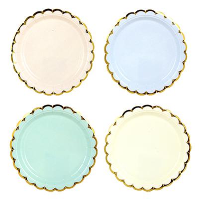530-168 Праздничный 2 Набор бумажных тарелок 6шт, 18см, 4 цвета