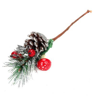 353-056 СНОУ БУМ Украшение декоративное, пластик, красные ягоды, 5 дизайнов