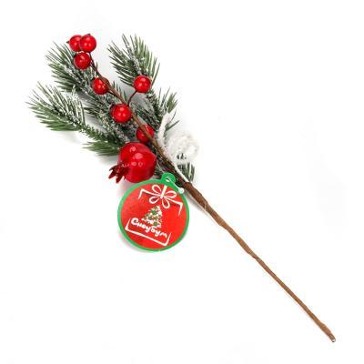353-058 СНОУ БУМ Украшение декоративное, пластик, красные ягоды, 2 дизайна