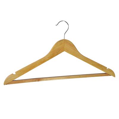 455-045 VETTA Вешалка деревянная с антискользящей зубчатой перекладиной светл дерево 45см