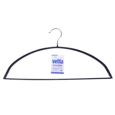 456-084 VETTA Вешалка металлическая полукруглая 40см с ПВХ покрытием