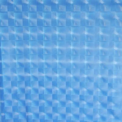 461-463 VETTA Шторка для ванной, винил, 180x180см, 12 колец, 3D, квадрат, голубой