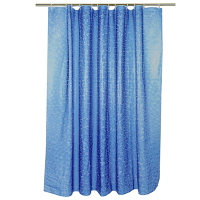 461-466 VETTA Шторка для ванной, винил, 180x180см, 12 колец, 3D, круги, синий