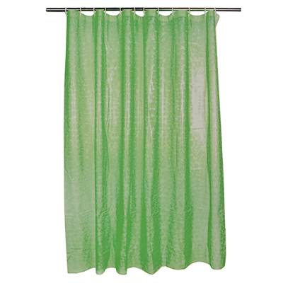 461-467 VETTA Шторка для ванной, винил, 180x180см, 12 колец, 3D, круги, зеленый