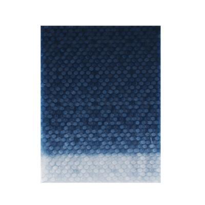 461-470 VETTA Шторка для ванной, винил, 180x180см, 12 колец, 3D, полоски, синий