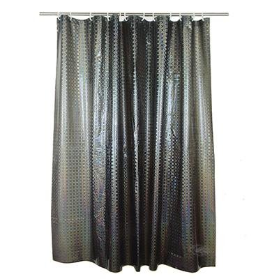 461-472 VETTA Шторка для ванной, винил, 180x180см, 12 колец, 3D, серый