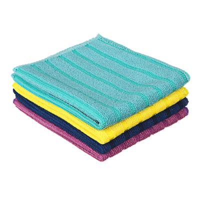448-232 Набор салфеток для сильных загрязнений из микрофибры 2 шт, 25х35 см, 300 гр./кв.м, 4 цвета, VETTA