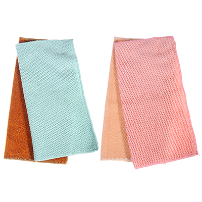 448-236 Набор салфеток для ванной комнаты из микрофибры 2 шт, 30х30 см, 320 гр./кв.м, 4 цвета, VETTA