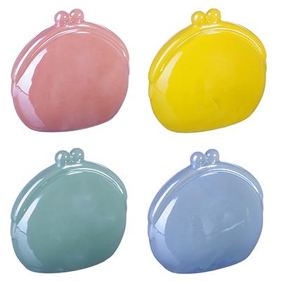 511-148 Копилка в виде кошелька, керамика, 13,5х7,5х12,5см, 4 цвета