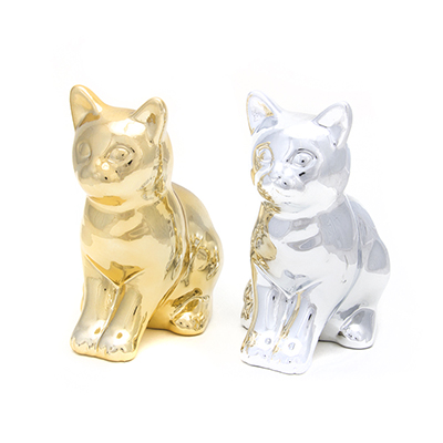 511-151 Копилка в виде кошки, керамика, 12х8,3х16см, 2 цвета