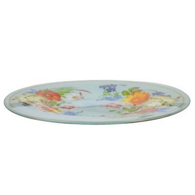 830-507 Народные мотивы Тарелка десертная стекло 200мм, S3008