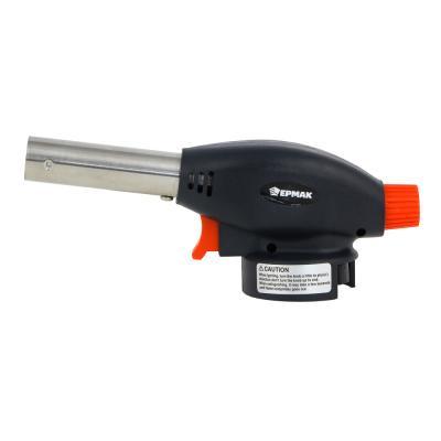 116-022 Горелка газовая ЧИНГИСХАН с пьезорозжигом, цанговый захват, широкое cопло; 17х6,6х5,1см