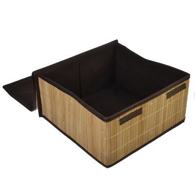 463-812 VETTA Коробка для хранения складная, бамбук, 32х32х16см