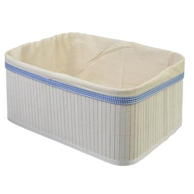 463-815 VETTA Коробка для хранения складная, бамбук, 35х25х16см белая