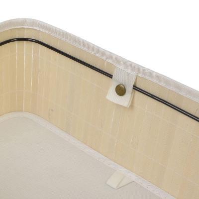 463-816 Коробка для хранения складная, бамбук, 40х30х18см белый, VETTA