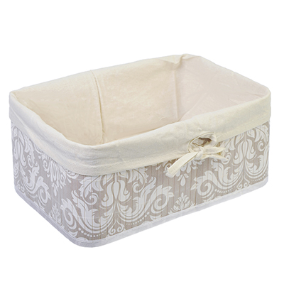 463-818 VETTA Коробка для хранения складная, бамбук, 33x23x14см Вензель