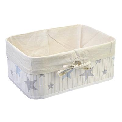 """463-819 Коробка для хранения складная, бамбук, 40x30x18см, VETTA """"Звёзды"""""""