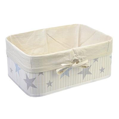 """463-820 Коробка для хранения складная, бамбук, 33x23x14см, VETTA """"Звёзды"""""""