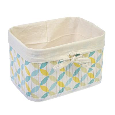 463-821 VETTA Коробка для хранения складная, бамбук, 22x16x14см Ромбы