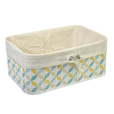 463-822 VETTA Коробка для хранения складная, бамбук, 33x23x14см Ромбы