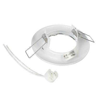 417-046 FORZA Светильник встраиваемый №2 MR16 цоколь GU 5.3 металл d80мм, белый, круглый