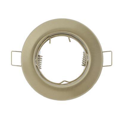 417-047 FORZA Светильник встраиваемый № 7 MR16 цоколь GU 5.3 металл d80мм, серебристый глянцевый