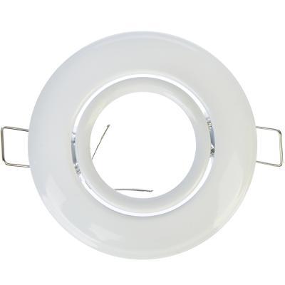 417-048 FORZA Светильник встраиваемый №3 с регулируемым углом лампа MR16 цоколь GU 5.3 металл d90мм, белый