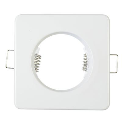417-050 FORZA Светильник встраиваемый №4 квадратный лампа MR16 цоколь GU 5.3 металл 80х80х35 белый