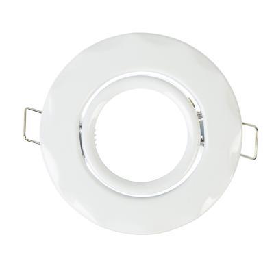 417-051 FORZA Светильник встраиваемый №5 Волнообразный, с рег. угл., лампа MR16, GU 5.3 металл d90 белый
