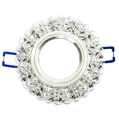 417-052 FORZA Светильник встраиваемый №10 лампа MR16 цоколь GU 5.3 стекло d90мм
