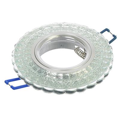 417-055 FORZA Светильник встраиваемый №11 лампа MR16 цоколь GU 5.3 стекло d90мм, узор