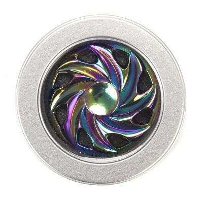 517-088 Спиннер, нерж.сплав, 7,5см, время вращения около 2 мин, с флуоресцентным узором, арт.20