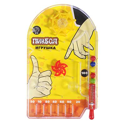 """295-026 Игрушка """"Пинбол"""", пластик, 10х15,8см, 3 цвета"""