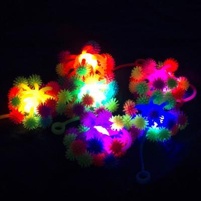 """295-039 Игрушка пушистая резиновая """"Осьминожка"""", 8,5см, 6 цветов"""